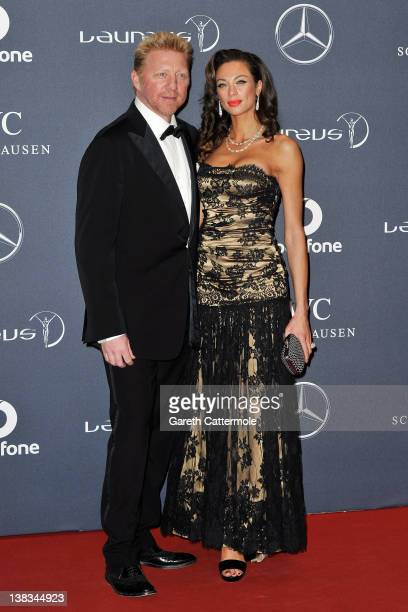 Academy member Boris Becker and Sharlely Becker attend the 2012 Laureus World Sports Awards at Central Hall Westminster on February 6, 2012 in...