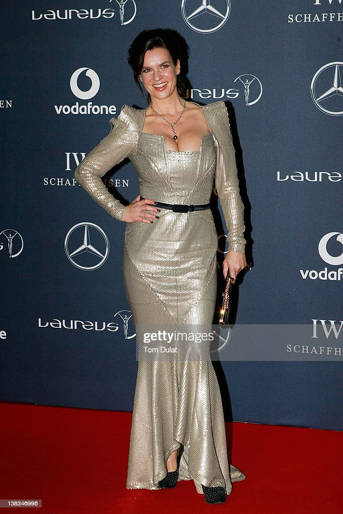 Academy member Katarina Witt attends the 2012 Laureus World Sports Awards at Central Hall Westminster on February 6, 2012 in London, England.