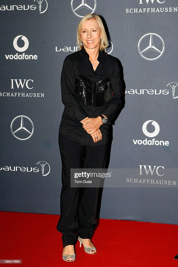 Academy member Martina Navratilova attends the 2012 Laureus World Sports Awards at Central Hall Westminster on February 6, 2012 in London, England.
