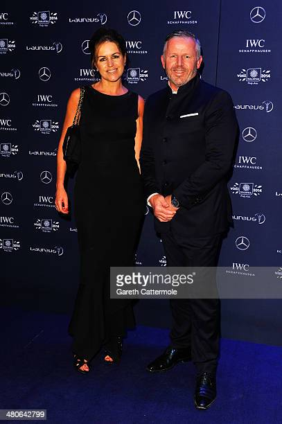 Academy member Sean Fitzpatrick and wife Bronwyn attend the 2014 Laureus World Sports Awards at the Istana Budaya Theatre on March 26, 2014 in Kuala...