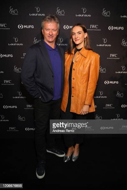 """Academy member Steve Waugh and Lynette Waugh attend """"She's Mercedes"""" prior to the 2020 Laureus World Sports Awards on February 16, 2020 in Berlin,..."""
