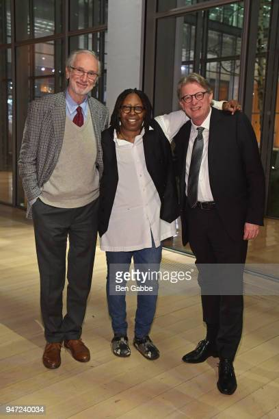 Academy Museum Architect Renzo Piano Academy Governor Whoopi Goldberg and Academy Museum Director Kerry Brougher attend the Academy Museum...