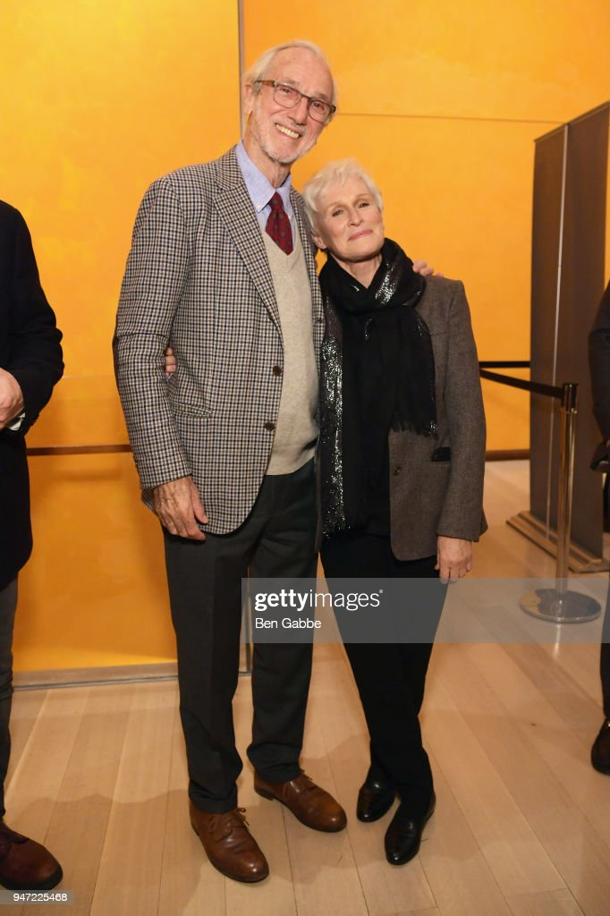Academy Museum Architect Renzo Piano (L) and actor Glenn Close attend the Academy Museum Conversation at The Times Center, featuring Whoopi Goldberg, Kerry Brougher and Renzo Piano, on April 16, 2018 in New York City.