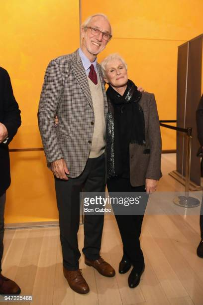 Academy Museum Architect Renzo Piano and actor Glenn Close attend the Academy Museum Conversation at The Times Center featuring Whoopi Goldberg Kerry...