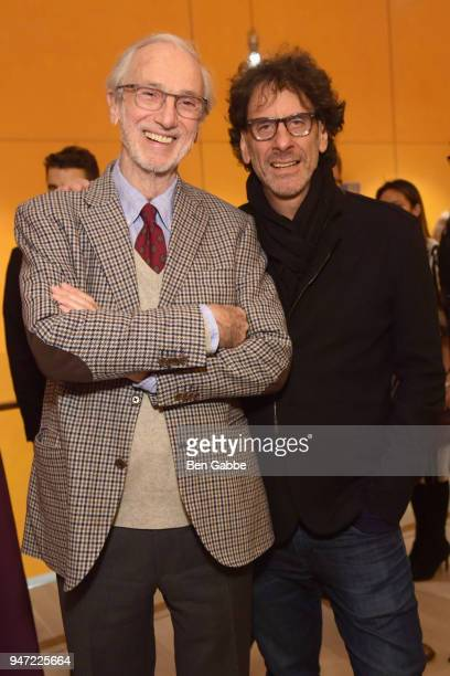 Academy Museum Architect Renzo Piano and producer Joel Coen attends the Academy Museum Conversation at The Times Center featuring Whoopi Goldberg...