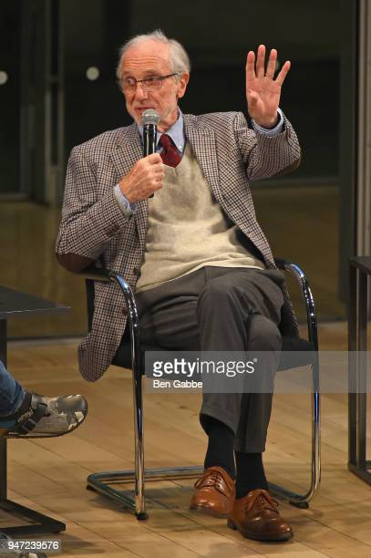 Academy Museum Architect Renzo Piano speaks onstage during the Academy Museum Conversation at The Times Center featuring Whoopi Goldberg Kerry...