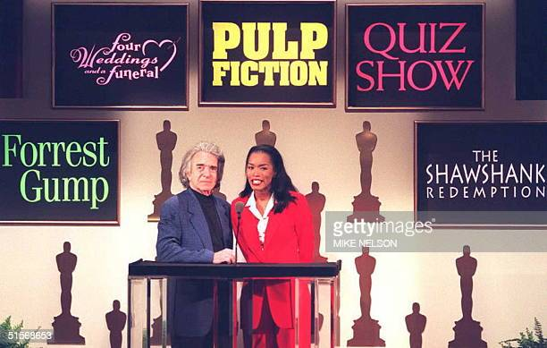 Academy of Motion Picture Arts and Sciences President Arthur Hiller and actress Angela Bassett announce Beverly Hills the nominations for Best...