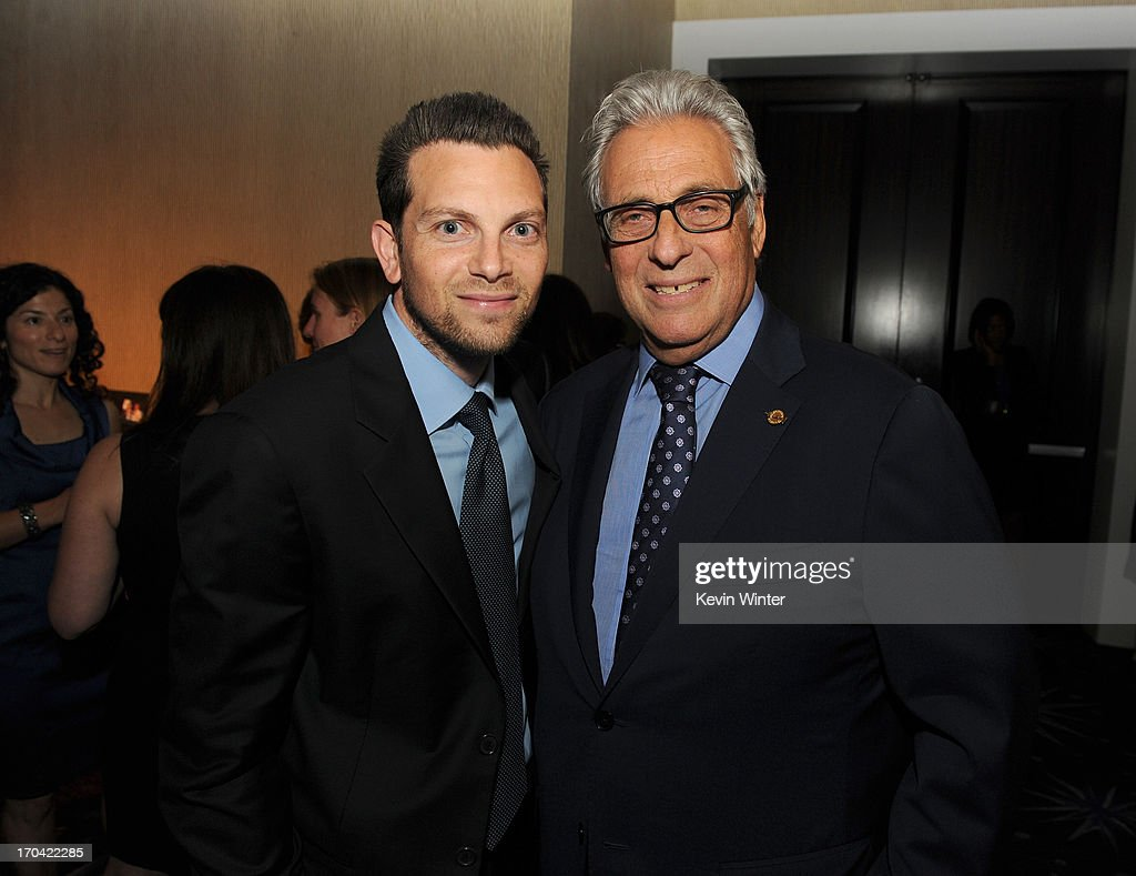 Academy of Motion Picture Arts and Sciences President Hawk Koch (R) and attorney Robby Koch attend Women In Film's 2013 Crystal + Lucy Awards at The Beverly Hilton Hotel on June 12, 2013 in Beverly Hills, California.