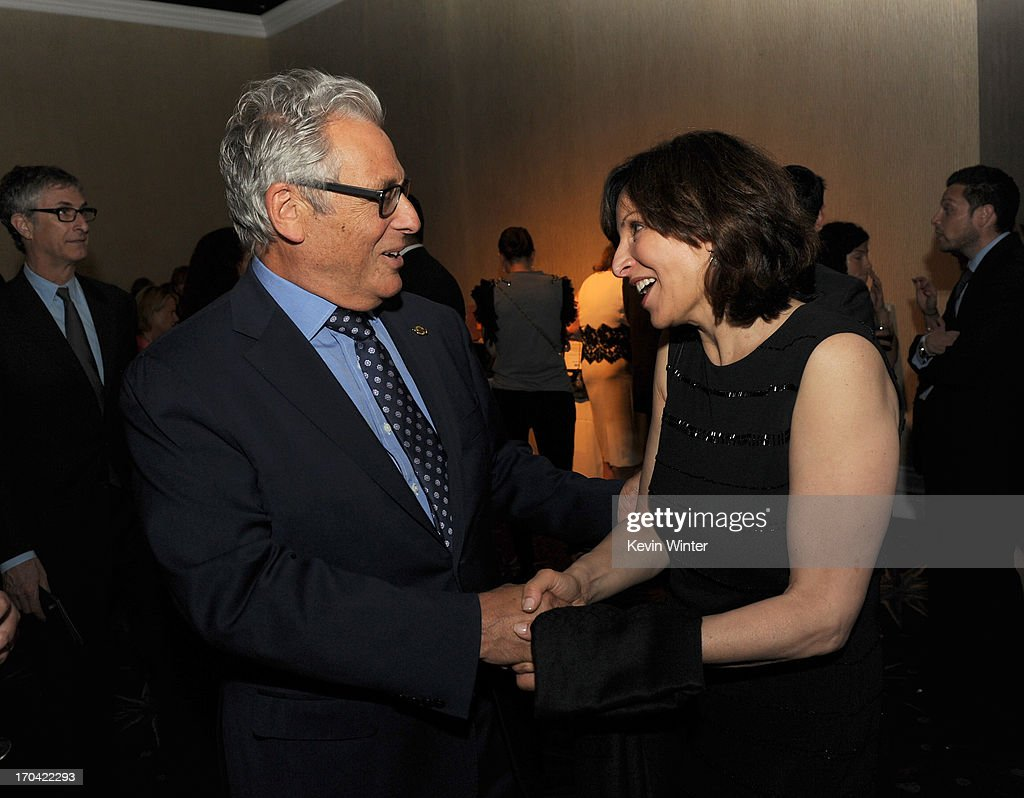 Academy of Motion Picture Arts and Sciences President Hawk Koch (L) and Women in Film board member Orly Adelson attend Women In Film's 2013 Crystal + Lucy Awards at The Beverly Hilton Hotel on June 12, 2013 in Beverly Hills, California.