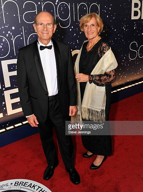 Academy of Sciences in France Member and Neurosurgeon AlimLouis Benabid and Yvette Benabid attend the Breakthrough Prize Awards Ceremony Hosted By...
