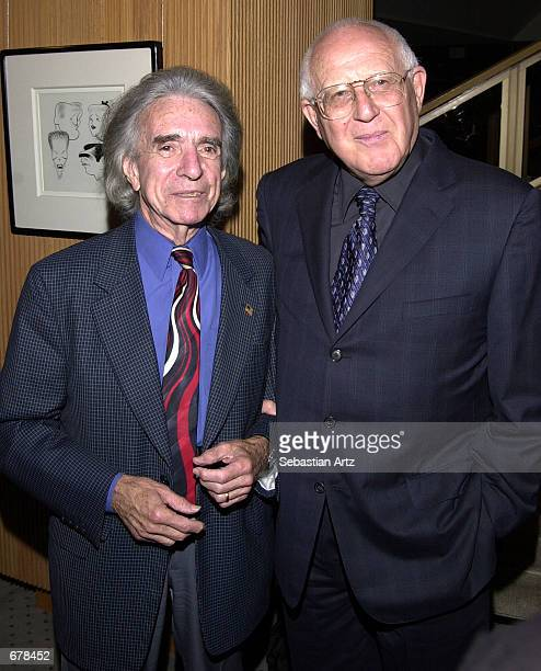 Academy President Arthur Hiller and Academy Award winning producer Branko Lustig attend the premiere of the 40th anniversary release of the motion...