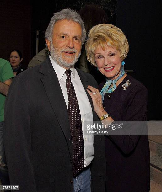 Academy President Sid Ganis and Karen Kramer attend a reception before documentary filmmaker Albert Maysles was the featured guest at the Academy of...