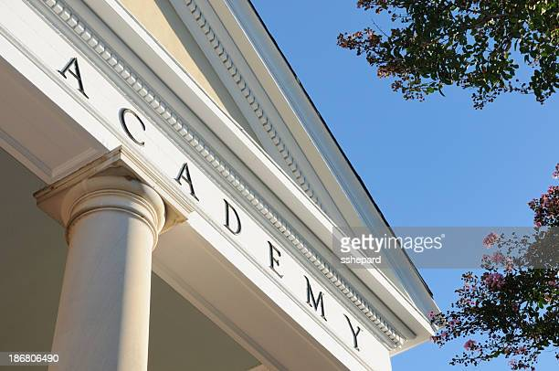 Academy sign on building