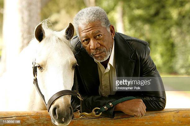 AcademyAward Winning Actor and Granada Relief Fund Philanthropist Morgan Freeman at Cover Photo shoot for the Fall Edition of the Luxury Equestrian...