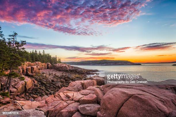Acadia Coastal Sunrise Mount Desert Island Maine