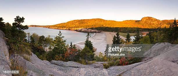 Acadia National Park sunrise in Autumn, Maine