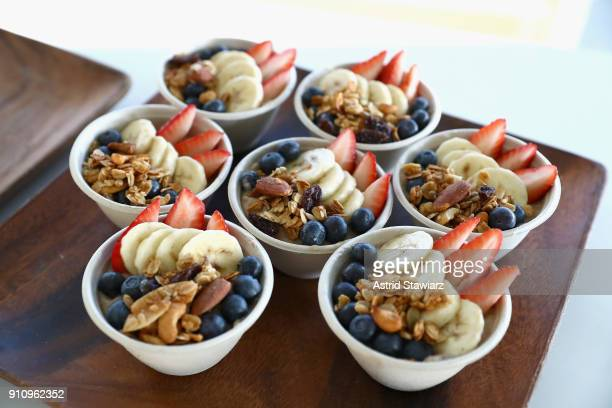 Acai bowls on display at the in goop Health Summit on January 27 2018 in New York City
