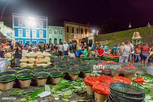 Acai Market in Belem City