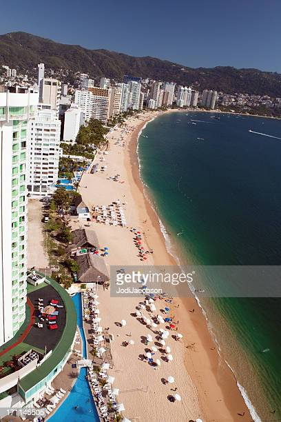 acapulco beach skyline - acapulco stock pictures, royalty-free photos & images