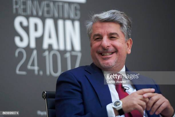 Accenture President Juan Pedro Moreno attends the Forbes Summit Reinventing Spain 2017 at the San Fernando Museum on October 24 2017 in Madrid Spain