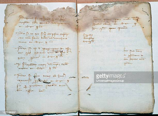 Acceptance of bills of exchange among merchants of Barcelona and Florence Ledger Diocesan Archive Barcelona Catalonia Spain