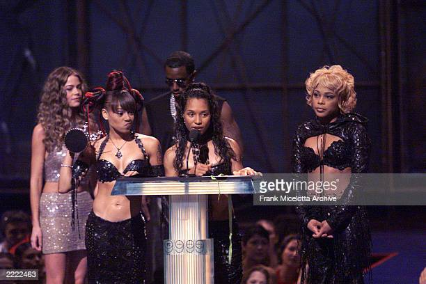 TLC Accepting The Award For Best Group Video At 1999 MTV Music Awards Held