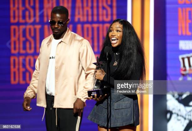 accepts Best New Artist onstage at the 2018 BET Awards at Microsoft Theater on June 24 2018 in Los Angeles California