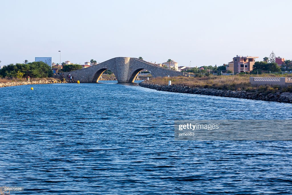 access canal to the manga del mar menor Murcia, Spain : Stock Photo