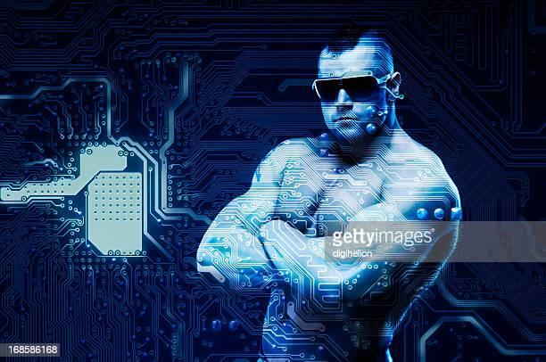 Zugang verweigert! Internet-security-Konzept mit digitalen being-sentinel.