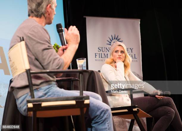 Access Hollywood Film Segment Producer Film Critic Scott Mantz and actress Allison Williams speak onstage during the 2017 Sun Valley Film Festival...
