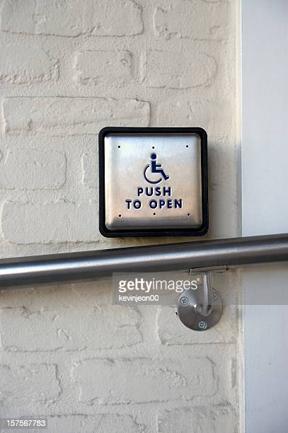 access sign for the handicapped - disabled sign stock photos and pictures