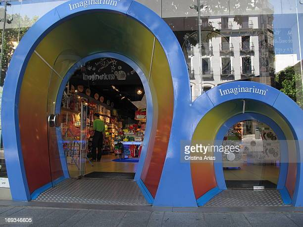 Access to one of the shops of the Spanish firm Imaginarium of toys and games for children, with the traditional door for children that is a hallmark...