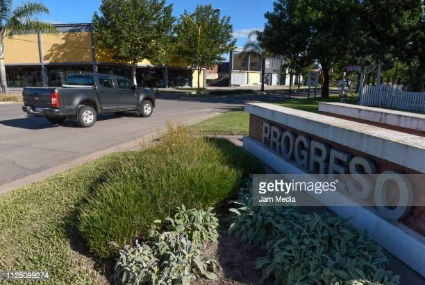 Access to Pregreso town where Emiliano Sala's funeral will take place on February 15 2019 in Progreso Argentina 28yearold striker was killed when the...