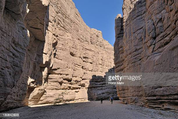 Access to the Painted Canyon in Mecca Hills, southeast of Indio, Southern California, USA
