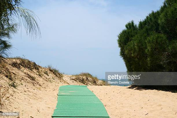 Access walkway to the beach
