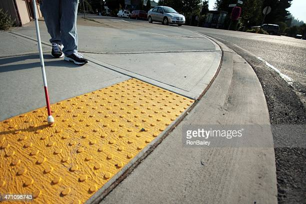 accessible sidewalk edge - bumpy stock photos and pictures