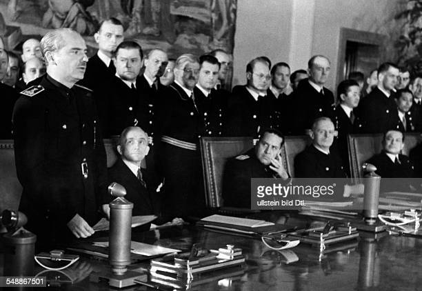 Accession of Spain to the antikomintern pact act of state in the ambassador's hall in the Reich Chancellory in Berlin foreign minister Ramon Serrano...