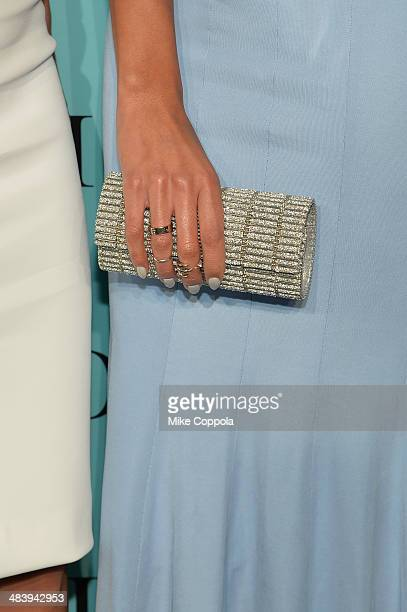 Accessoriedetail of Carly Cushine at the Tiffany Debut of the 2014 Blue Book on April 10 2014 at the Guggenheim Museum in New York United States