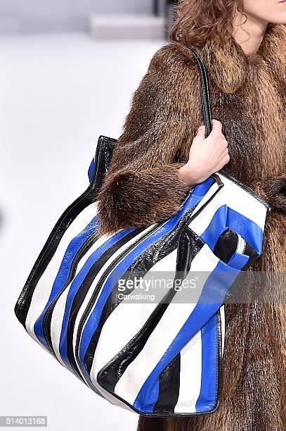Accessories a bag detail on the runway at the Balenciaga Autumn Winter 2016 fashion show during Paris Fashion Week on March 6 2016 in Paris France