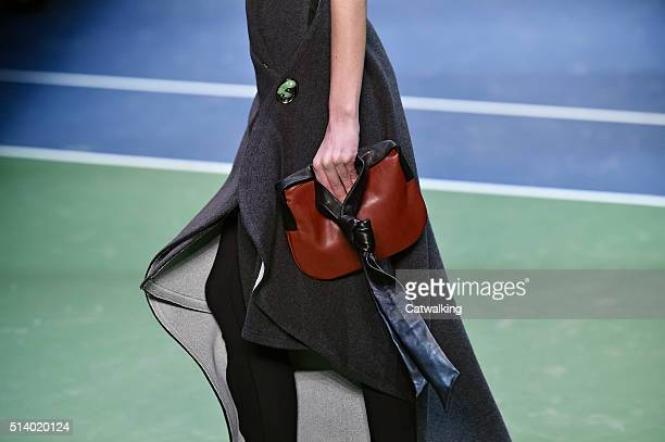 Accessories a bag detail on the runway at the Celine Autumn Winter 2016 fashion show during Paris Fashion Week on March 6 2016 in Paris France