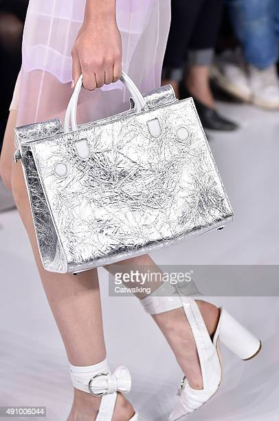 Accessories a bag detail on the runway at the Christian Dior Spring Summer 2016 fashion show during Paris Fashion Week on October 2 2015 in Paris...