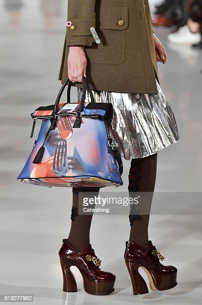 Accessories a bag detail on the runway at the Margiela Winter 2016 fashion show during Paris Fashion Week on March 2 2016 in Paris France