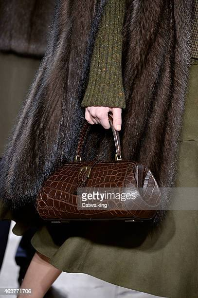 Accessories a handbag detail on the runway at the Michael Kors Autumn Winter 2015 fashion show during New York Fashion Week on February 18 2015 in...