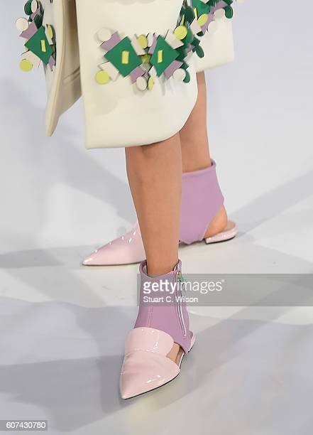 Accessories and details at the Anya Hindmarch show during London Fashion Week Spring/Summer collections 2017 on September 18 2016 in London United...