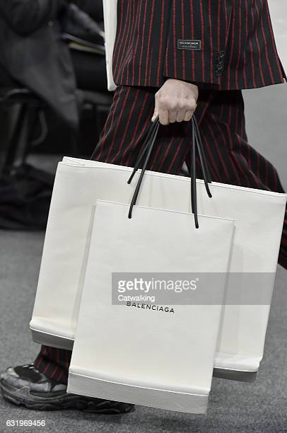 Accessories bag detail on the runway at the Balenciaga Autumn Winter 2017 fashion show during Paris Menswear Fashion Week on January 18 2017 in Paris...