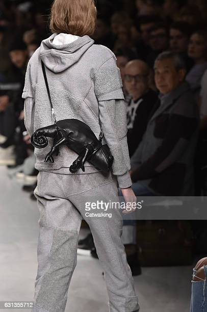 Accessories bag detail on the runway at the Christopher Raeburn Autumn Winter 2017 fashion show during London Menswear Fashion Week on January 8 2017...