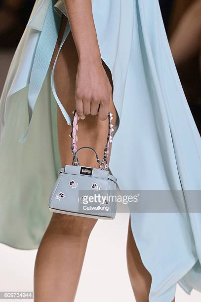 Accessories bag detail on the runway at the Fendi Spring Summer 2017 fashion show during Milan Fashion Week on September 22 2016 in Milan Italy