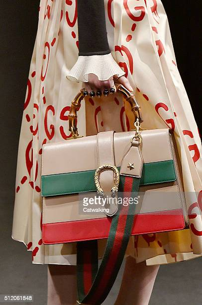 Accessories bag detail on the runway at the Gucci Autumn Winter 2016 fashion show during Milan Fashion Week on February 24, 2016 in Milan, Italy.