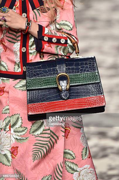 Accessories bag detail on the runway at the Gucci Spring Summer 2016 fashion show during Milan Fashion Week on September 23 2015 in Milan Italy