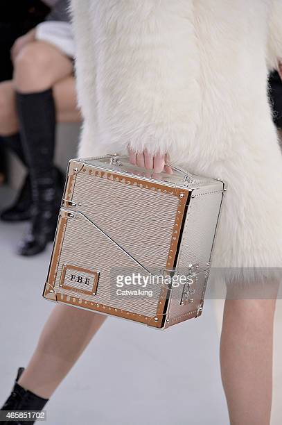 Accessories bag detail on the runway at the Louis Vuitton Autumn Winter 2015 fashion show during Paris Fashion Week on March 11 2015 in Paris France